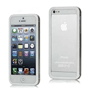 NKCreations Bumper Case Backless for Apple iPhone 5 (White)