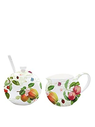 Easy Life Design Lattiera e Zuccheriera in Porcellana Bone China Fruit 150 ml