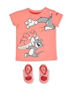 Puma Zapatillas de estar por casa & T-shirt Pack Tom&Jerry