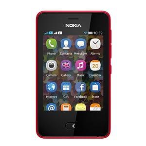 Nokia Asha 501 Smartphone-Bright Red