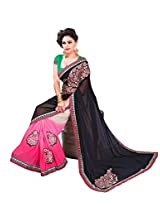 Texclusive Women's georgette Saree with Blouse Piece