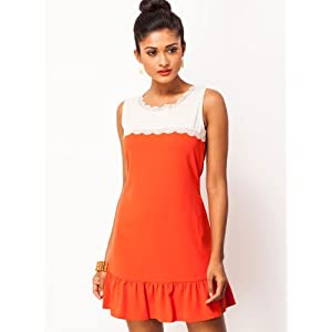 Skater Dress With Contrasting Yoke