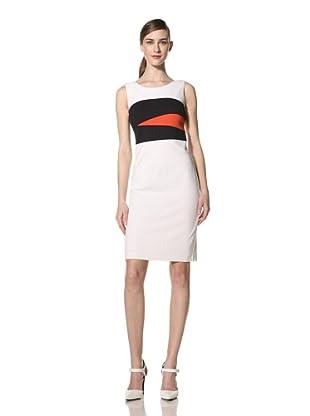 Nue by Shani Women's Sleeveless Colorblock Dress (White/Midnight/Poppy)