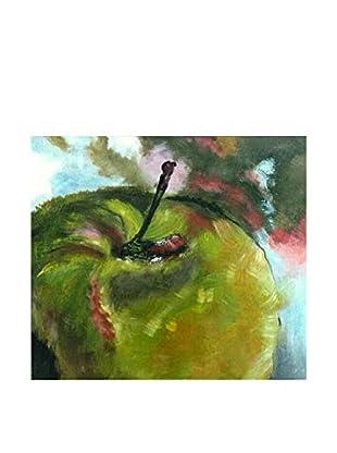 LegendArte Pintura al Óleo sobre Linezo Mela Verde 40X50