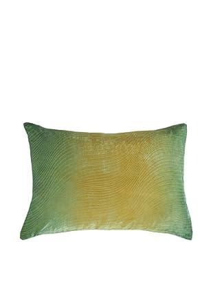 Kevin O'Brien Studio Hand-Painted Devore Velvet Slinky Pillow (Citron)