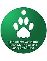PetHub Basic QR ID Tag, Small, Green
