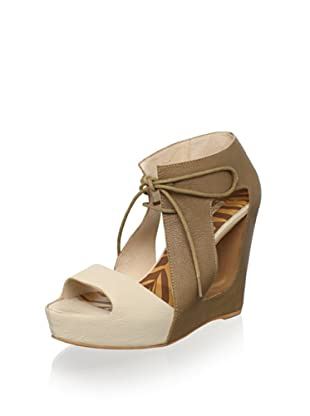 Matiko Women's Paris Wedge Sandal (Light Brown/Nude)