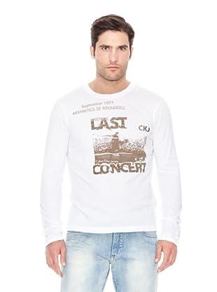 Calvin Klein Jeans Camiseta Print M / L (Blanco)