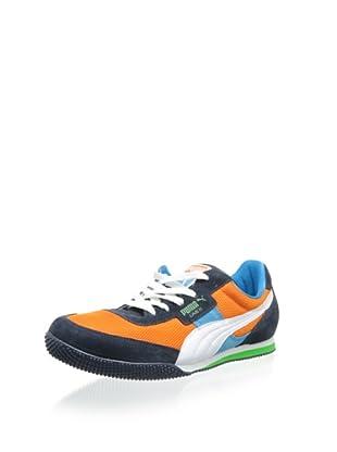 PUMA Men's Lab II Fabric Fashion Sneaker (Poppy/White/Navy)