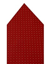 Navaksha Red Micro Fiber Pocket Square