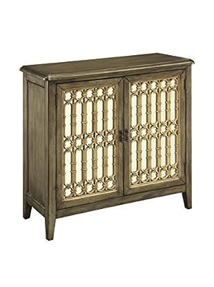 Coast to Coast 2-Door Cabinet, Black/Gold