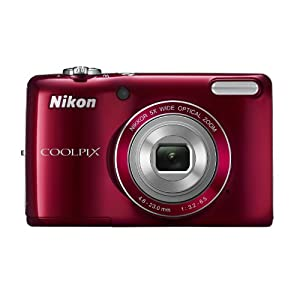 Nikon Coolpix L26 16.1MP Point and Shoot Camera (Silver) with 5x Optical Zoom, 4GB Card and Camera Case