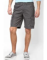 Solid Dark Grey Shorts