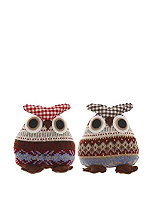 Winward Set of 2 Knitting Wool Owls, Assorted