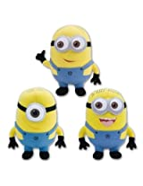 Despicable Me The Movie Minions 10 Inch Plush Doll Toy Set Dave Jorge Stewart Stuart (Style 1)