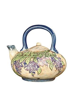Dale Tiffany Wisteria Tea Pot, Multi