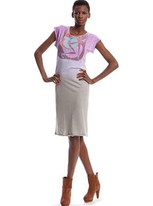 Custo Vestido (Gris / Lila)