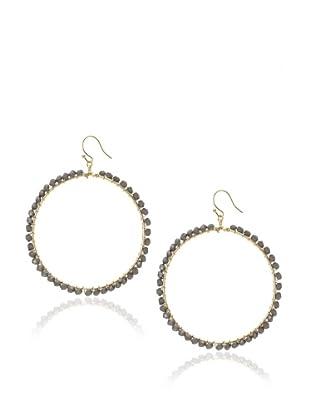 Flying Lizard Grey Circle Earrings