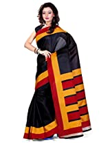 Cenizas Solid Art Silk Sari