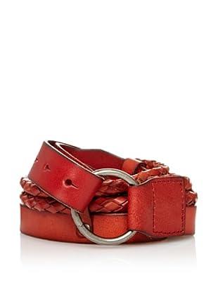 Sándalo Cinturón Tiras Trenzadas (Rojo)