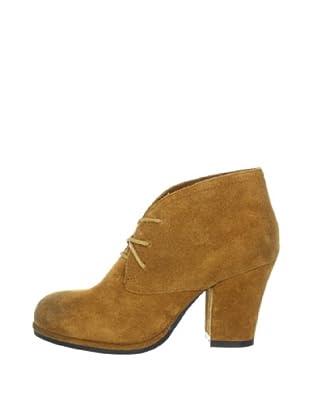 Buffalo London 411-8699 COW SUEDE 134405 - Botines fashion de cuero para mujer (Marrón)
