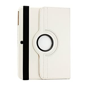 BMS 360 Degree Rotating Leather Smart Cover Case Stand for Samsung Galaxy Tab 3 Neo 7 inch T111 (White)