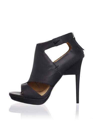 L.A.M.B. Women's Amanda Platform Sandal (Black)