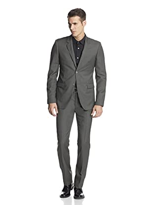 Calvin Klein Collection Men's Bowery Two Button Suit (Yellow Green)