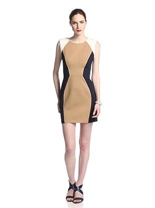 Rebecca Minkoff Women's Logan Colorblock Dress (Navy/Camel/Moon)