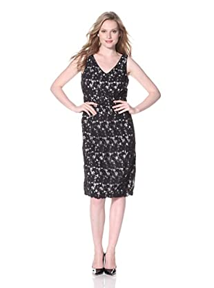 Zelda Women's Ivy V-Neck Sheath (Black)