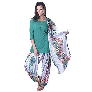 Vastra Vinod teal Cotton Salwar Suit