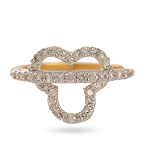 Aditri Women Girls Ring C 79 Gold White