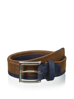 Bolliver Men's Color Block Belt (Cognac/Navy)
