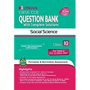 Oswaal CBSE CCE Question Bank with Complete Solutions: Social Science for Class 10, Term II
