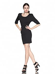 Rebecca Minkoff Women's Emile Fitted Dress (Black)