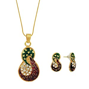 Spargz Stunning Designer Fashion Pendant Earring Set AIPS 024 [Jewellery]