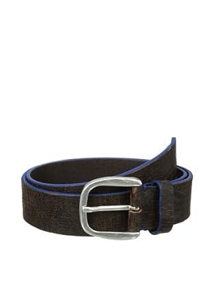 Bolliver Men's Painted Cracked Belt (Blue/Brown)