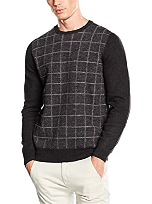 Ben Sherman Pullover The Felted Window Pane Crew