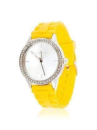 VIANOVA Women's NWX174451YE-Z Yellow/Silver-Tone Rubber Watch