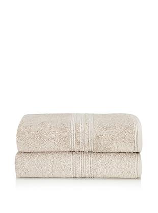 Chortex 2-Piece Imperial Bath Sheet Set, Stone