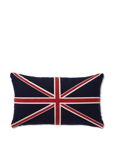 Elsa Blue Union Jack Indoor/Outdoor Pillow, 12