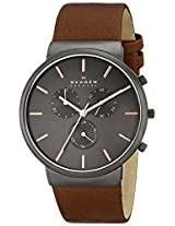 Skagen Ancher Chronograph Grey Dial Men's Watch - SKW6106
