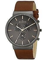 Skagen Ancher Chronograph Grey Dial Men's Watch - SKW6106