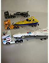 Tractor Trailer Die Cast Free Wheels Metal Trucks Plastic Parts Toys Kids Play