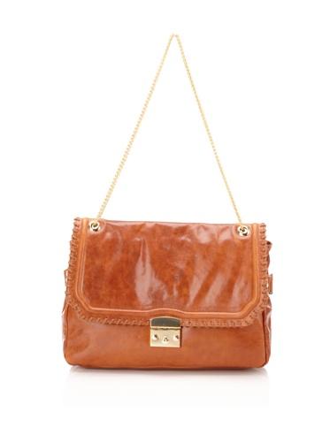 BE&D Women's Henley Leather Shoulder Bag (Brown)