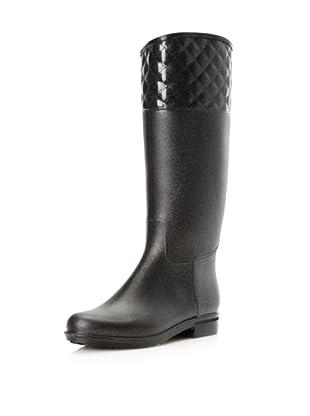 dav Women's Quilted English Knee-High Boot (Gunmetal)