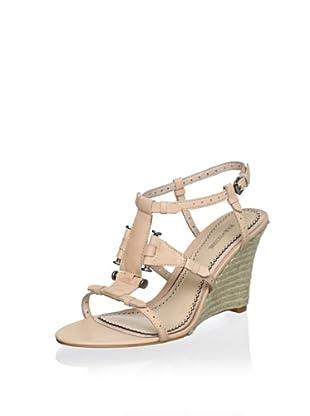 Pour La Victoire Women's Betsy Wedge Sandal (Tan)