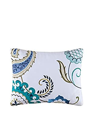 Alena Embroidered Pillow, Blue Multi