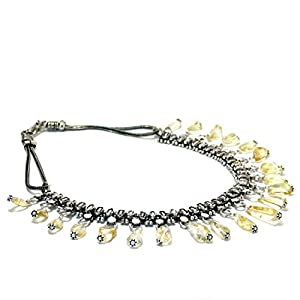 Daamak Jewellery Oxidised Necklace -Lemon Yellow