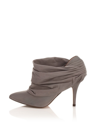Pura Lopez Women's Ruched Bootie (Grey)